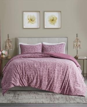 Madison Home USA Chantelle Full/Queen 3 Piece Damask Matelasse Cotton Duvet Cover Set Bedding