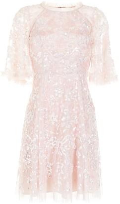 Needle & Thread Sequin Ribbon embellished mini dress