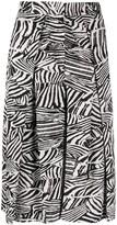 Missoni zebra-print pleated skirt