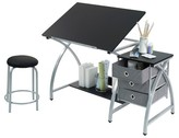 studio designs Comet Craft Table with Stool - Silver/Black