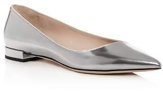 Giorgio Armani Women's Leather Pointed Toe Ballet Flats