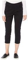 Jag Jeans Petite Petitie Maya Pull-On Twill Crop in Black (Black) Women's Clothing