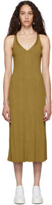 Chloé Gold Sleeveless Mid Dress