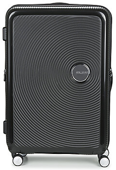 American Tourister SOUNDBOX 77CM 4R women's Hard Suitcase in Black