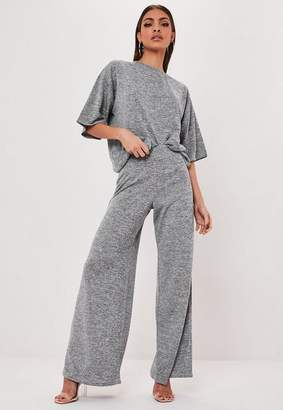 Missguided Gray T Shirt And Trouser Co Ord Set