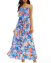 Laundry by Shelli Segal Printed Boho Maxi Dress