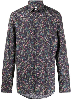 Paul Smith Scattered Floral print slim fit shirt