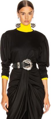Isabel Marant Davallia Top in Black | FWRD