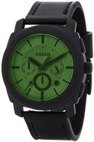 Fossil Men's Stainless Steel Leather Strap Watch