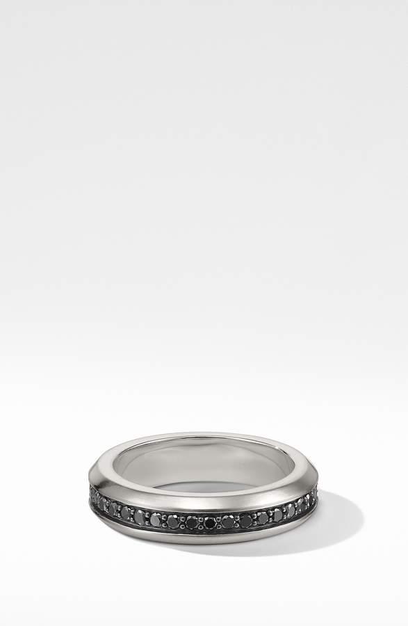 David Yurman Streamline Band Ring with Black Diamonds