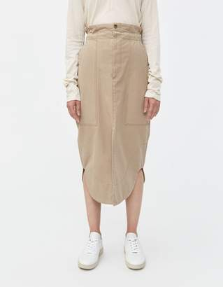 Bassike Pique Canvas Workwear Skirt