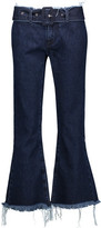 Marques Almeida Marques' Almeida Belted Mid-Rise Frayed Flared Jeans