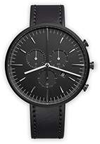 Uniform Wares Shell Cordovan Unisex Quartz Watch with Black Dial Chronograph Display And Black Leather Strap
