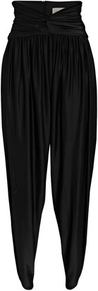 Alexandre Vauthier Cropped High-Rise Jersey Pants