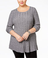 Style&Co. Style & Co Plus Size Rib-Knit Tunic Sweater, Only at Macy's