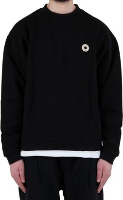 Drôle De Monsieur Slogan Pocket Sweatshirt - Black