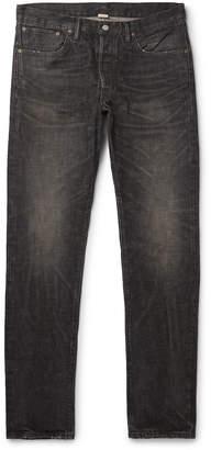 Ralph Lauren RRL Slim-Fit Distressed Selvedge Denim Jeans - Men - Black
