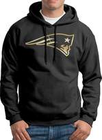 Sarah Men's New England Patriots Gold Logo Hoodie M