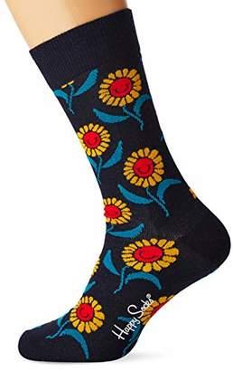 Happy Socks Men's Sunflower Sock (Multicolour 630), (Size:41-46)