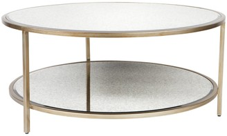 Cafe Lighting Martini Round Coffee Table Antique Gold