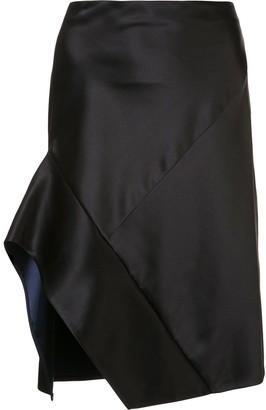 Narciso Rodriguez contrast trim asymmetric skirt
