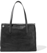 Stella McCartney The Falabella Faux Brushed-leather Tote - Black