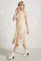 Forever 21 Sheer Mesh Lace Midi Dress