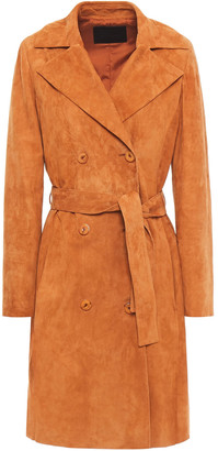 Drome Belted Suede Trench Coat
