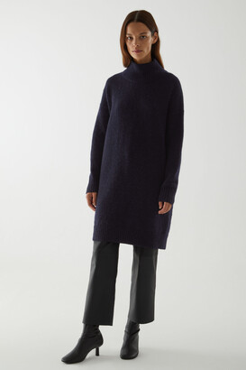 Cos Knitted Wool-Alpaca Dress