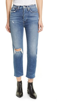 RE/DONE Originals High Waist Ankle Stovepipe Jeans