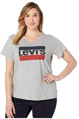 Levi's Plus Perfect Tee w/o Pocket (Batwing White) Women's T Shirt