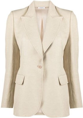 P.A.R.O.S.H. Fitted Button-Front Blazer