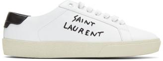 Saint Laurent White Court SL Sneakers