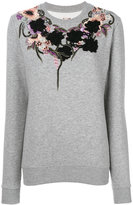 Antonio Marras laced sweatshirt - women - Cotton/Polyester - M