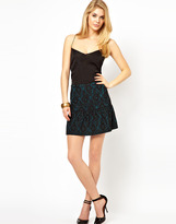 Oasis Bonded Lace Skirt