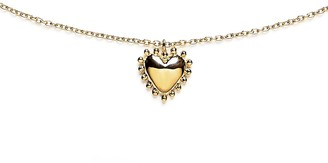 Agnes de Verneuil Necklace With Large Pearl Heart - Gold
