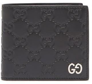 Gucci GG-debossed Bi-fold Leather Wallet - Black