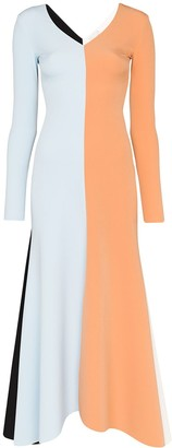 A.W.A.K.E. Mode Colour-Block Maxi Dress