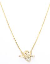 Yves Saint Laurent Gold Logo Heart Necklace