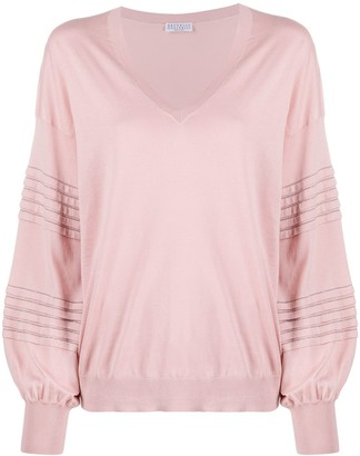 Brunello Cucinelli Stud-Embellished Cotton Jumper