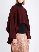 Jil Sander Asymmetric stretch-wool cape