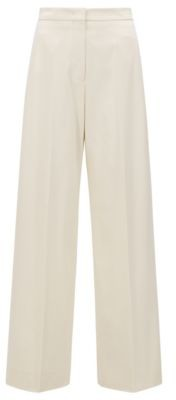 HUGO BOSS High-waisted wide-leg trousers in stretch cotton