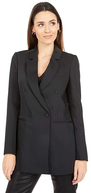 BCBG Max Azria Womens Lloyd Twill Asymmetrical Tuxedo Jacket Blazer BHFO 8967