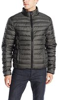 Calvin Klein Jeans Men's Denim Twill Printed Puffer Jacket