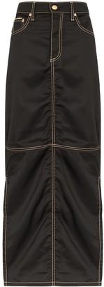 Eytys Contrast Stitch Maxi Skirt