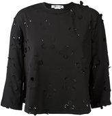 Comme des Garcons floral cut-out blouse