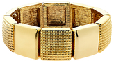Monet Textured Stretch Bracelet, Gold