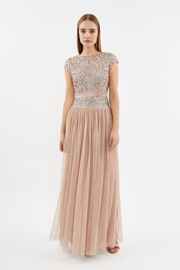 Coast Drop Waist Sequin Maxi Dress