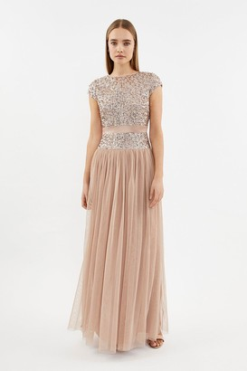 Coast Drop Waist Sequin Maxi Dress