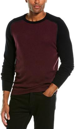 Autumn Cashmere Contrast Piping Cashmere Crewneck Sweater